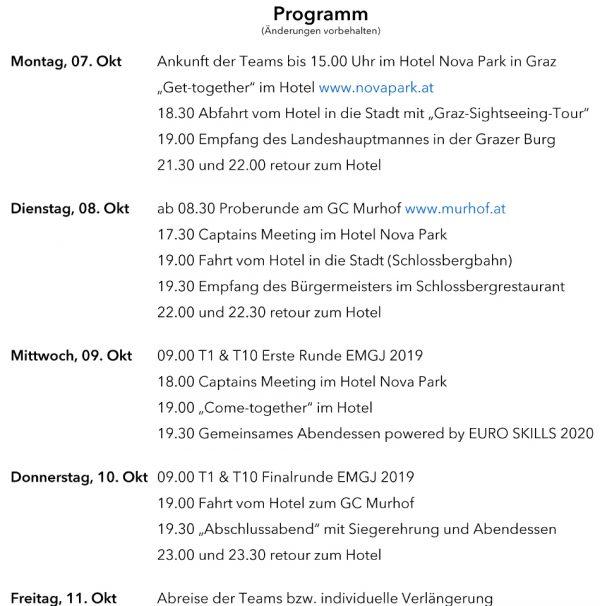 Journalisten EM 2019 Programm HaPrü